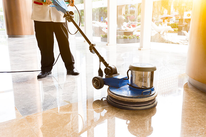 Get your floor looking better than ever with Momentum Building Services.